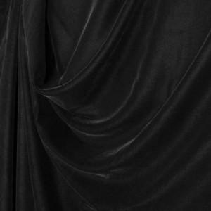 "Premium Black Plain Dyed Soft Micro Velvet 60"" Wide, 10m or 20m"