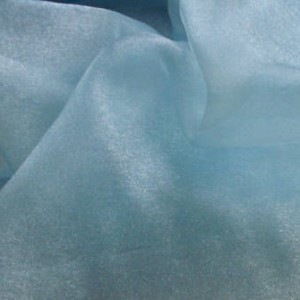 """Turquoise Organza fabric 58"""" wide for Bridesmaid dress,costumes,art & craft etc, 1m"""