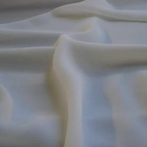 "Cream Polyester Georgette Plain Dye Fabric 60"" wide, 25m"