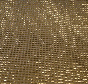 """Gold Sequence Fabric 45"""" Wide, 1m"""