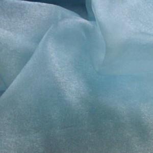 "Turquoise Organza Plain Dye Fabric 58"" wide, 10m"